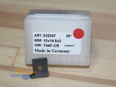 Пластина 15х14.5х2 мм T04F-CR L (Tigra) 022307