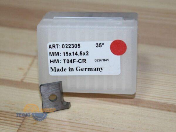 Пластина 15*14.5*2 мм T04F-CR R (Tigra) 022305