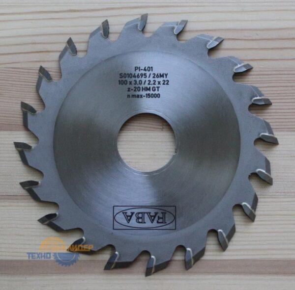 Пильный диск PI-401 100*3.0/2.2*22 Z=20 GT HW (FABA) S0104695