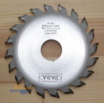 Пильный диск PI-401 100*3.0/2.2*22 Z=20 GW HW (FABA) S0104696