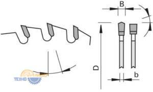 DA-F - форма зубьев