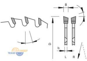 WS nn-System - попеременнокосой зуб пильных дисков LEUCO