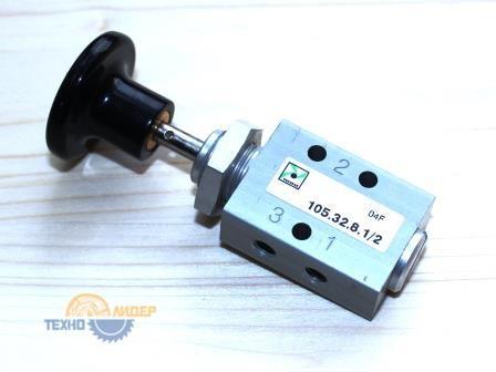 4-011-04-0613 Клапан 3/2 0-10BAR NG 2.5 с кнопкой управления M5