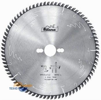 Пильный диск тв/сп 250х30*3.2/2.2 z=80 (Pilana) 97-11 TFZ L