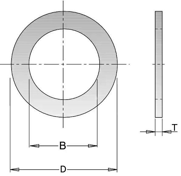 299.223.00 Кольцо переходное 30-16×1.4мм для пилы