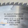 Диск универсальный 350x30_3.2/2.2 z84 GS PI-505VT Premium FABA SP0505008 14525