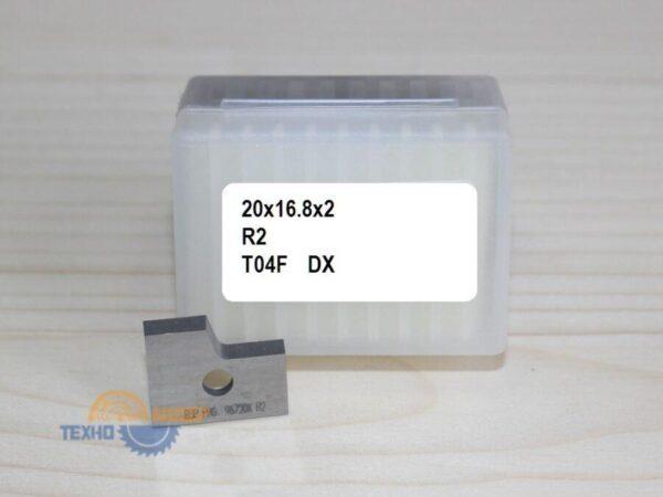 Пластинa 20х16.8х2 R2 T04F 9672 DX (Cehisa серия Rapid)