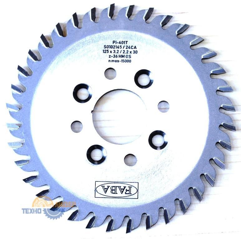 Пильный диск PI-401T 125×3.2/2.2×30 Z=36 GS HW (8 отв. 6.5×48  4pr+4le) (FABA) S0102145