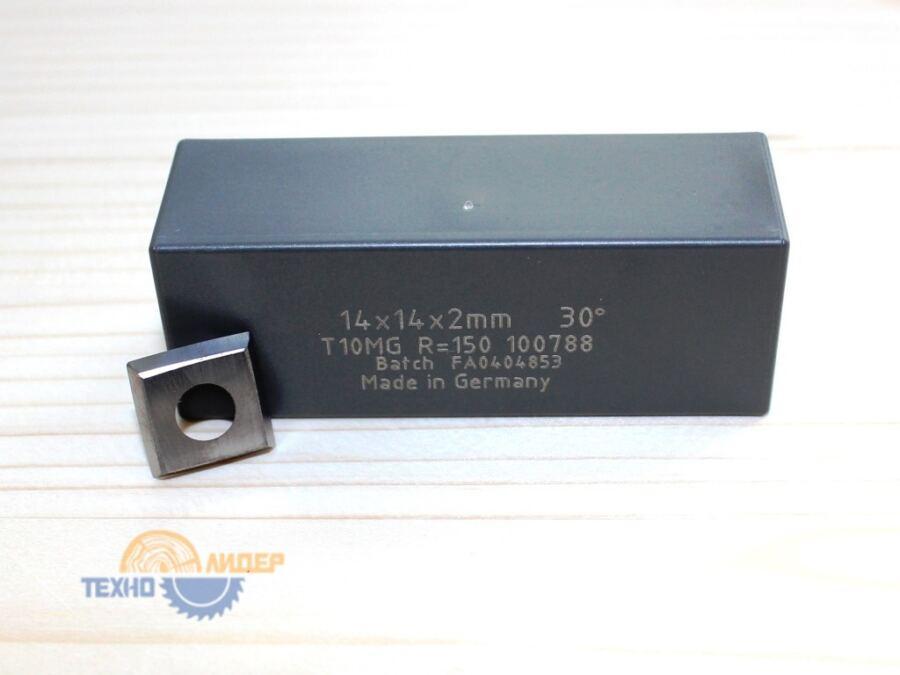 Пластина твердосплавная 14х14х2мм D=6.5 R=150 R0.5 30° T10MG (Tigra) 100788