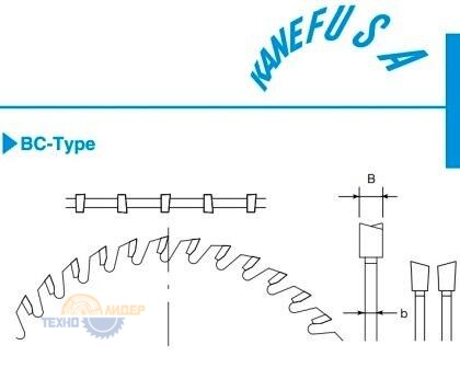 Форма зуба дисков Kanefusa BC-Type - переменно-косой зуб