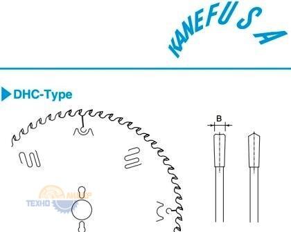 Форма зуба дисков Kanefusa DHС-Type - вогнутый с доп. фаской зуб