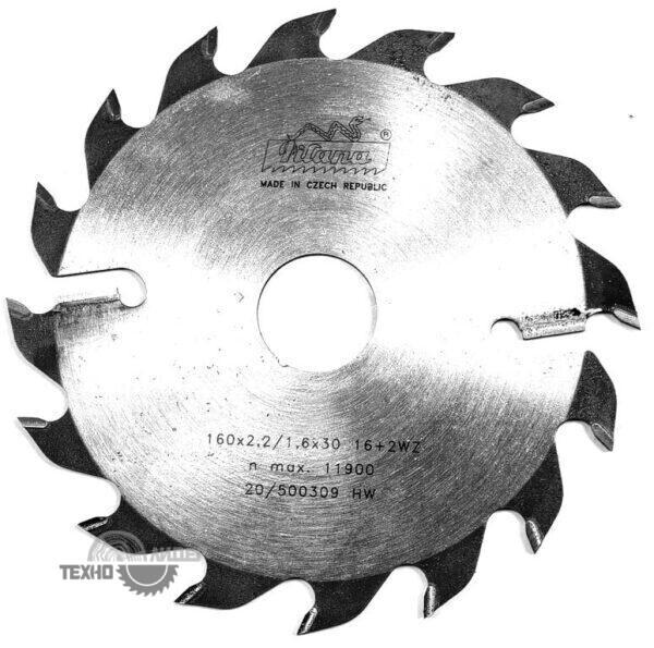 Диск на многопил HW 160×2.2/1.6×30 z16+2 94 WZ Pilana