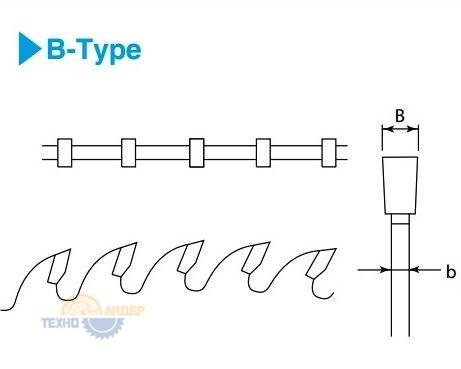 Форма зуба дисков Kanefusa B-Type - прямой зуб