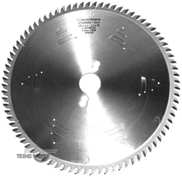 Диск пильный по ЛДСП, МДФ 250x30_3.2/2.2 z80 GA Premium FABA SP0605002