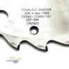 """Диск алмазный DP 250х80_4.0/2.8 z24 для сегментных дробителей """"ES-FA"""" 170495 Leuco 23196"""