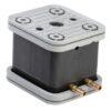 10.01.12.00053 Блочная присоска для гладкого стола с 2 разъемами для подключения шланга VCBL-G-K2 120x120x100 ST