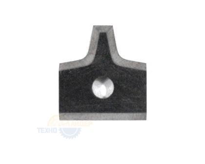 Пластина радиусная 16х17.5х2 R2 T04F-CR (для Brandt) 016477 Tigra