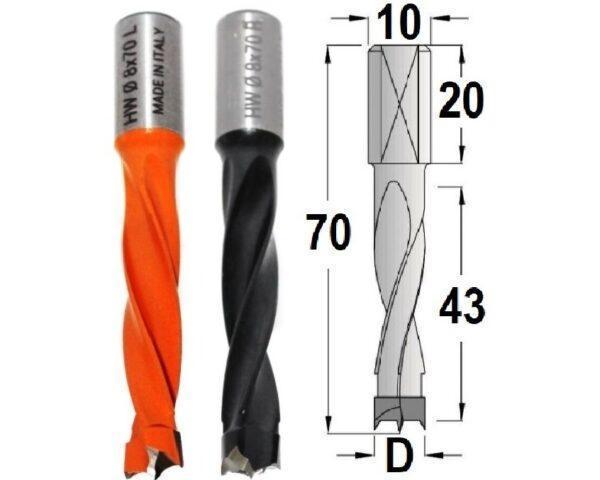 Сверла присадочные длинные 70 мм