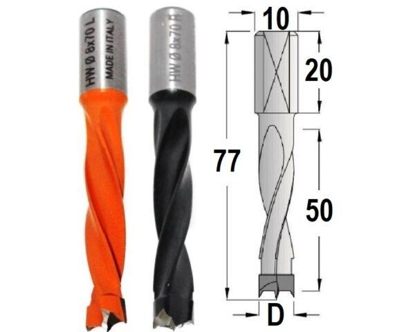 Сверла присадочные длинные 77 мм
