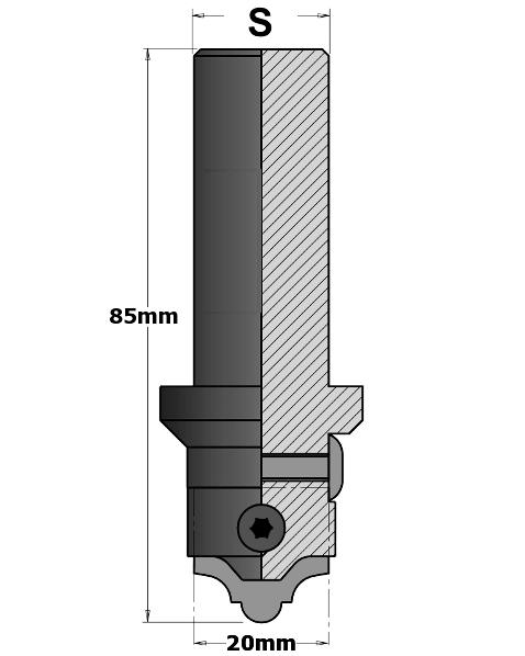 616.200 Фреза (корпус) для сменных ножей S=20 D=20×85 RH
