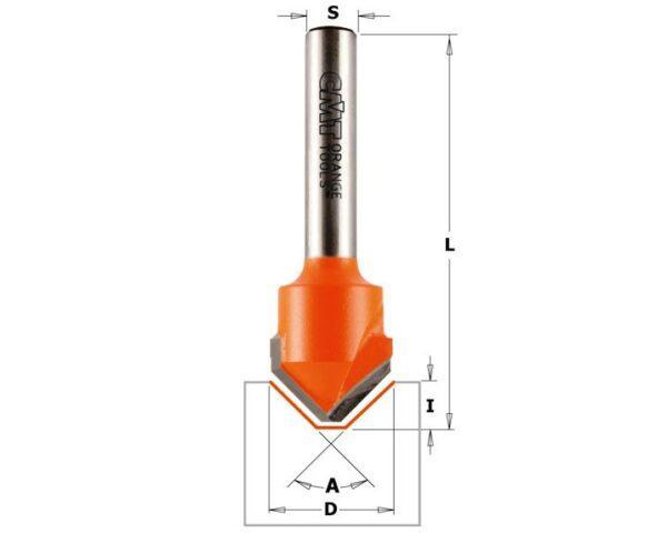 915.002.11 Фреза V-образная 90 гр. (ALUCOBOND) S=8 D=18×3.3 CMT