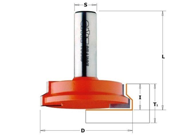 955.002.11 Фреза сращивание 15.9-25.4мм (Ящик) S=8 D=31.7×12.7