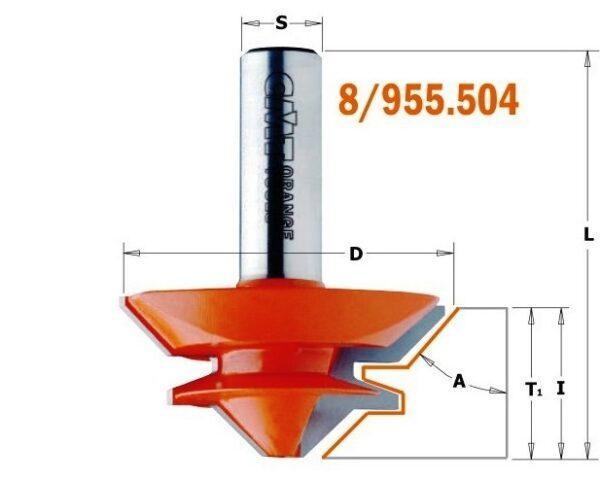 955.504.11 Фреза сращивание 9.5-19мм (Угол 90/180гр.) S=12 D=50.8×22.2