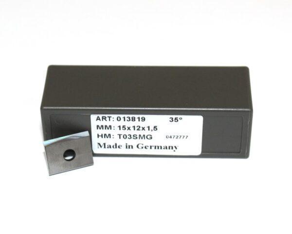 Нож сменный 15х12х1,5 Z2 T03SMG (ДСП, МДФ, HDF) 013819 Tigra