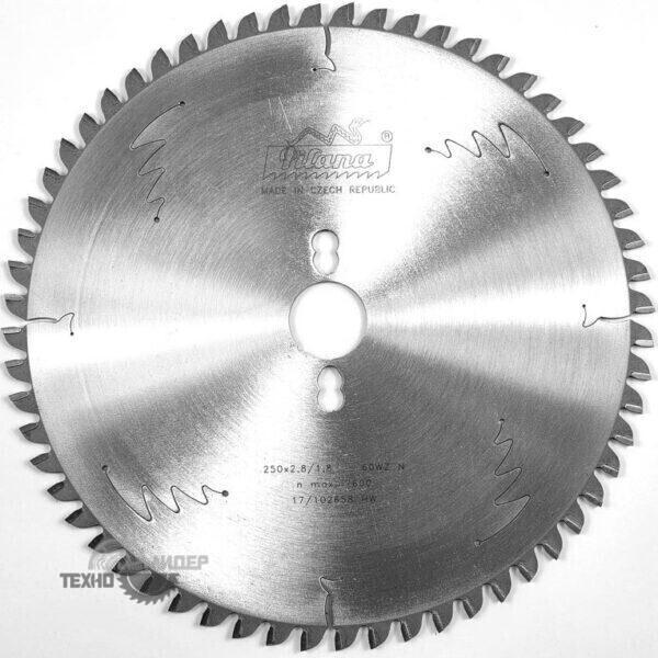 Диск для торцовки HW 250×2.8/1.8×30 z60 81 WZ N Pilana